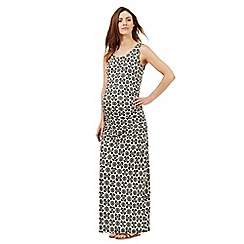 Red Herring Maternity - Black floral print tiled maxi dress
