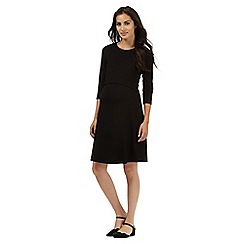 Red Herring Maternity - Black nursing dress