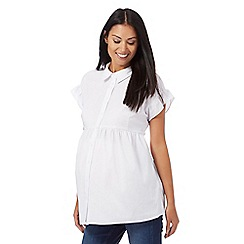 Red Herring Maternity - White frill blouse