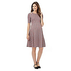 Red Herring Maternity - Red wing print tea dress