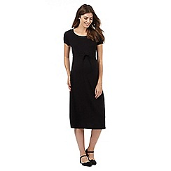 Red Herring Maternity - Black drawstring midi dress