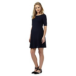 Red Herring Maternity - Navy ribbed swing dress