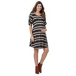 Red Herring Maternity - Black floral striped maternity dress