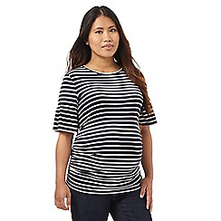 Red Herring Maternity - Navy striped print top