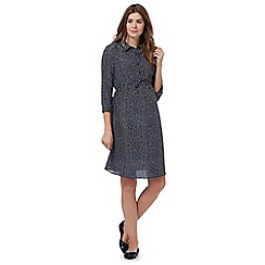 Red Herring Maternity - Navy polka dot print maternity shirt dress
