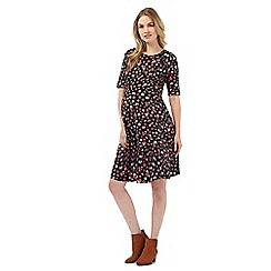 Red Herring Maternity - Black floral print maternity dress