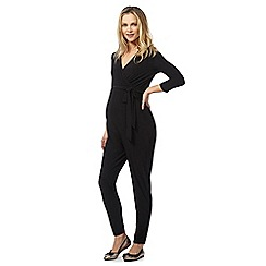 Red Herring Maternity - Black wrap jumpsuit