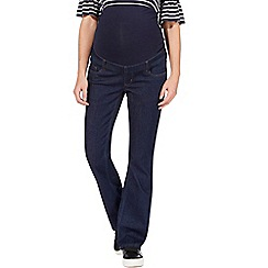 Red Herring Maternity - Dark blue maternity over the bump bootcut jeans