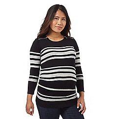 Red Herring Maternity - Navy striped print zip detail jumper