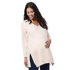Red Herring Maternity - Pale pink V neck jumper