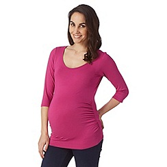 Red Herring Maternity - Purple scoop neck maternity top