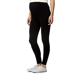 Red Herring Maternity - Black plain maternity leggings