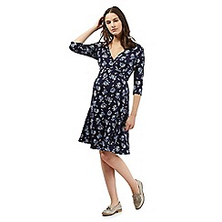 Red Herring Maternity - Navy floral wrap dress