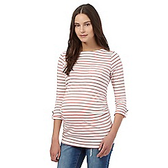 Red Herring Maternity - Red striped pocket top
