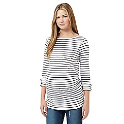 Red Herring Maternity - White striped pocket top