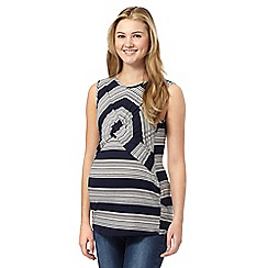 Red Herring Maternity - Navy wrap striped top