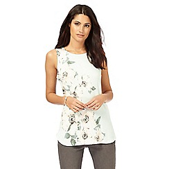 RJR.John Rocha - Pale green poppy print top