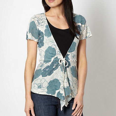 RJR.John Rocha - Designer natural floral linen blend cardigan