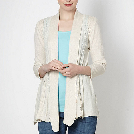 RJR.John Rocha - Designer natural cable knit cardigan
