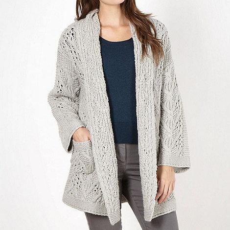 RJR.John Rocha - Designer grey chunky knit cardigan