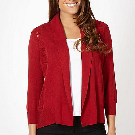 RJR.John Rocha - Designer dark red diamond cardigan