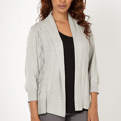 RJR.John Rocha - Designer light grey diamond edge to edge cardigan