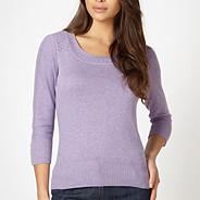 Designer lilac scoop neck jumper