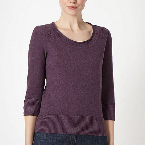 RJR.John Rocha - Designer plum scoop neck jumper
