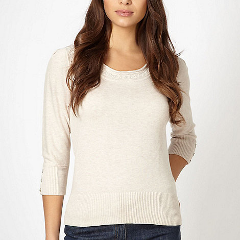 RJR.John Rocha - Designer natural scoop neck jumper