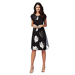 RJR.John Rocha - Black floral print mock layer dress