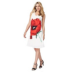 RJR.John Rocha - White poppy print dress