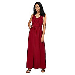 RJR.John Rocha - Red lace V-neck full length maxi dress