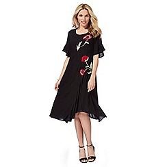 RJR.John Rocha - Black embroidered poppy dress
