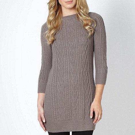 RJR.John Rocha - Designer fawn cable knit tunic jumper