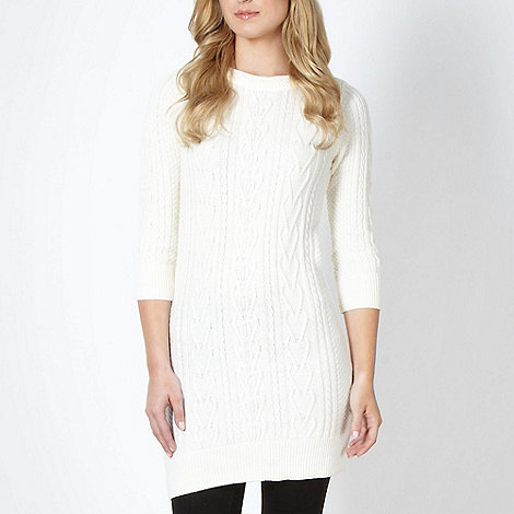 RJR.John Rocha - Designer ivory cable knit tunic dress