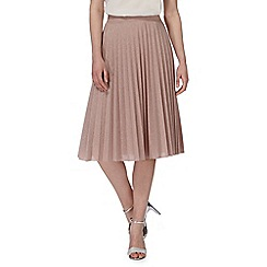 RJR.John Rocha - Pink glittery pleated skirt