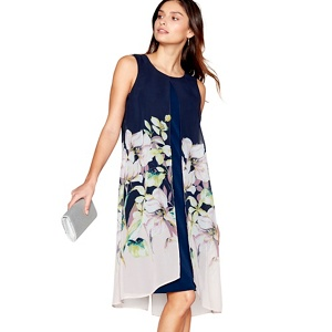 RJR.John Rocha Navy floral print shift dress