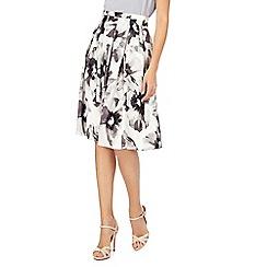 RJR.John Rocha - Ivory floral print knee length skirt