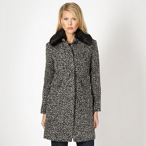 RJR.John Rocha - Designer black tweed coat