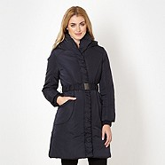 Black Puffer Coat - Debenhams