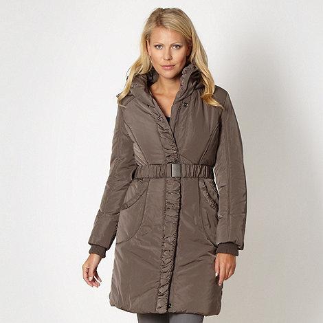 RJR.John Rocha - Designer taupe padded parka jacket