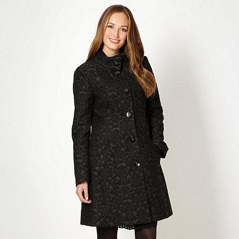 RJR.John Rocha - Designer black textured jacquard coat