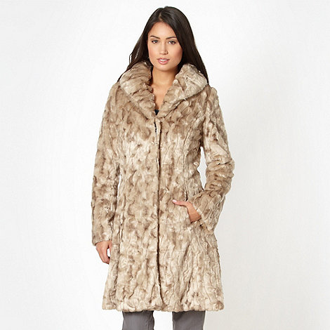 RJR.John Rocha - Designer natural faux fur coat