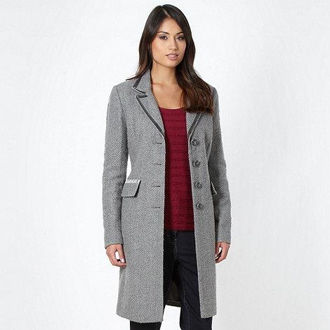 RJR.John Rocha - Designer grey herringbone coat