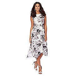 RJR.John Rocha - Ivory poppy print full length prom dress