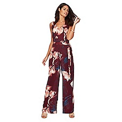 RJR.John Rocha - Wine floral jumpsuit
