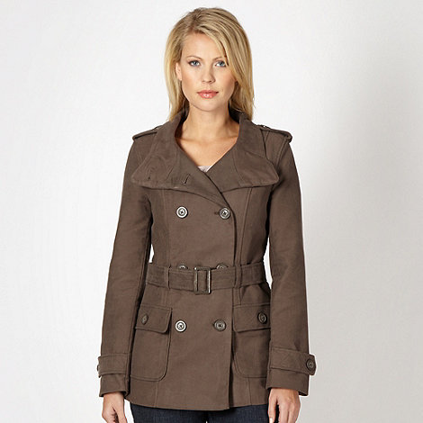 RJR.John Rocha - Designer brown double breasted button trench coat