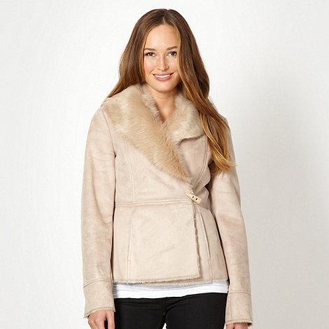 RJR.John Rocha - Designer beige faux fur lined jacket