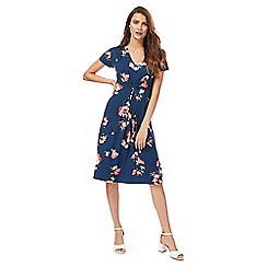 RJR.John Rocha - Navy floral print 'Secret Garden' tea dress