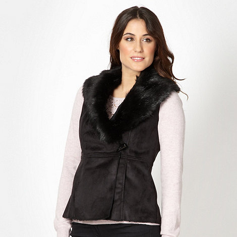 RJR.John Rocha - Designer black faux fur gilet